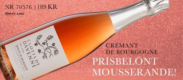 Mousserande höga betyg: Clotilde Davenne Cremant Rosé