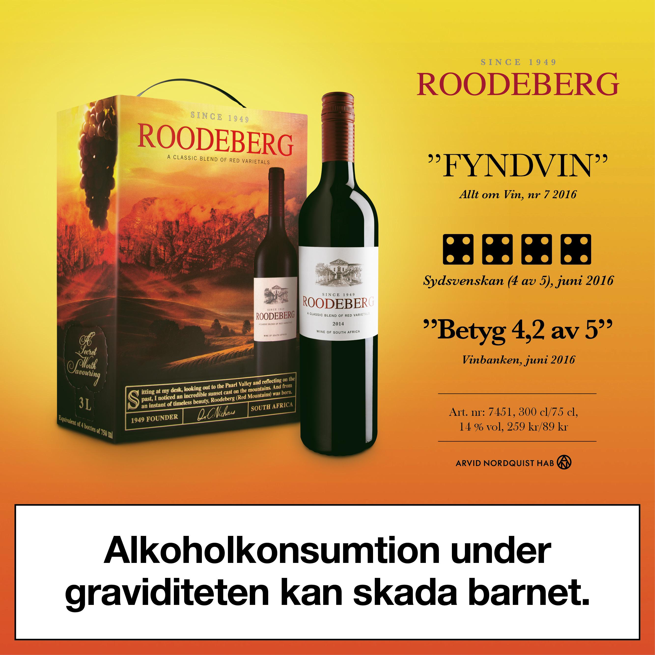 Bästa röda boxvinerna Roodeberg