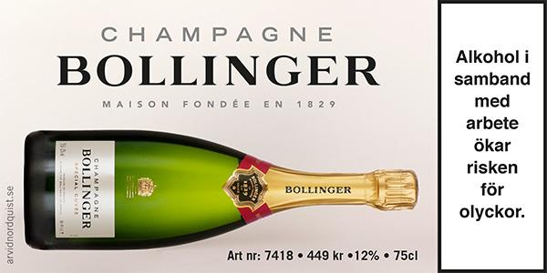 Bästa champagnen till Nyår Bollinger