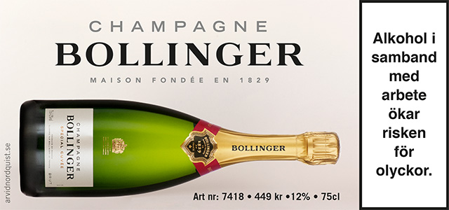 Nyår & Bollinger, James Bonds champagne