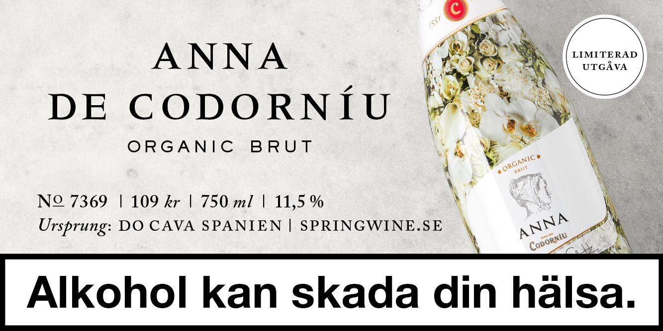 Sommarens svala Cava: Anna de Codorníu Organic 109 kr