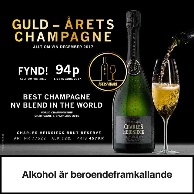 Bästa champagnen, 1:a på topplistan Charles Heidsieck