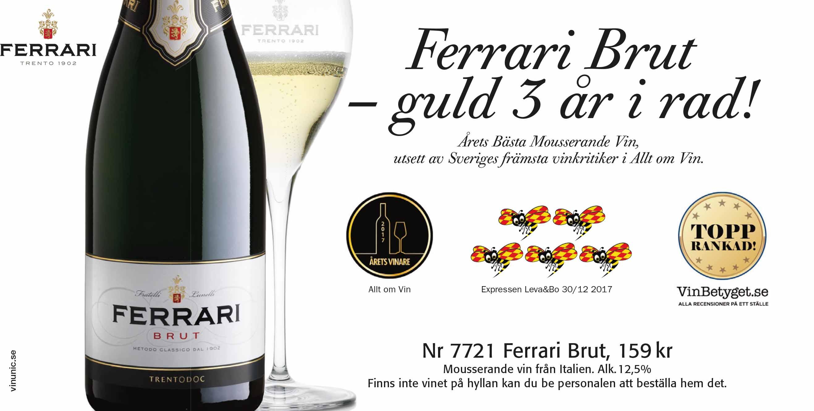 Ferrari: Bästa bubbel, italienskt mousserande vin