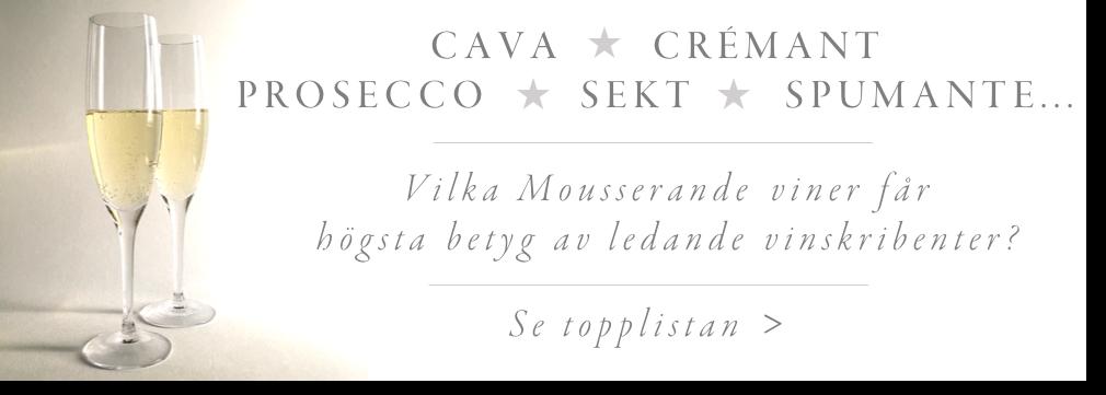 Bästa: Prosecco, Cava och Spumante på Systembolaget