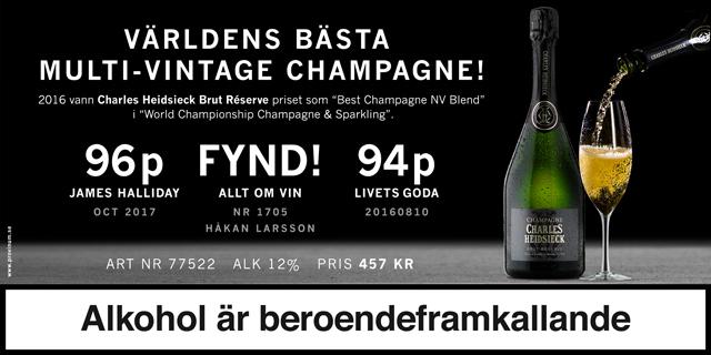 Nyhet på Systembolaget: Charles Heidsieck, Världens bästa non-vintage Champagne