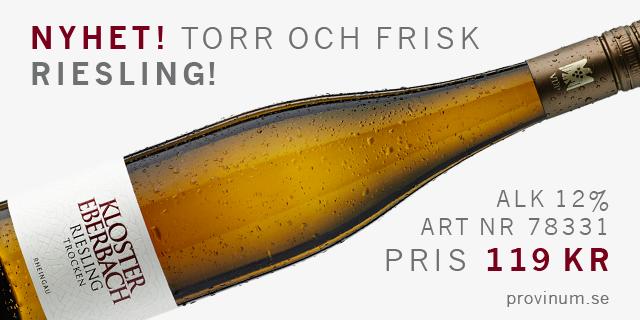 Hyllat vitt vinfynd:  Kloster Eberbach Riesling Trocken 119 kr: Läs mer >