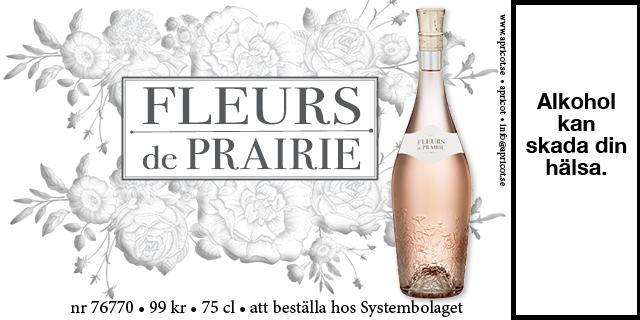 Rosévin Fleur de Prairie Vinbetyget 99 kronor