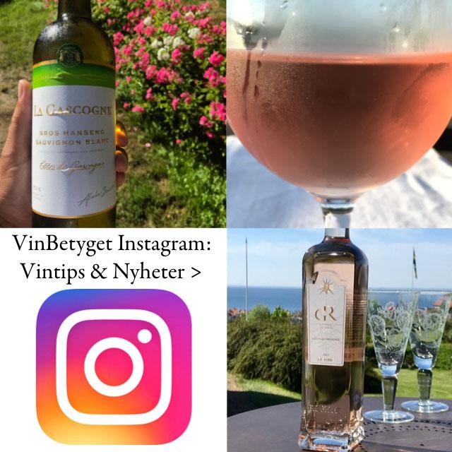 Vinbetyget Instagram med bästa rosévinerna