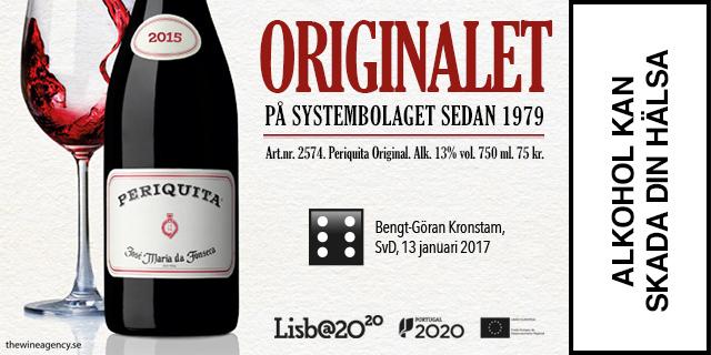 Vintips: Periquita Original, rött vin med höga betyg