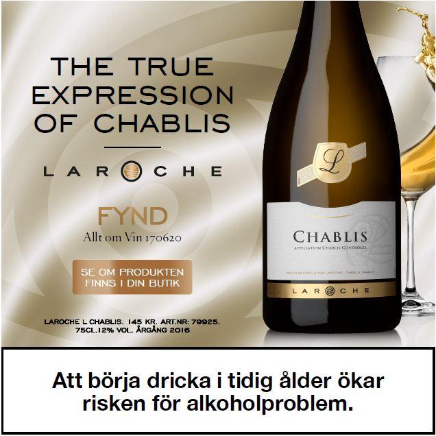 Vitt vin vintips L Chablis 145 kr