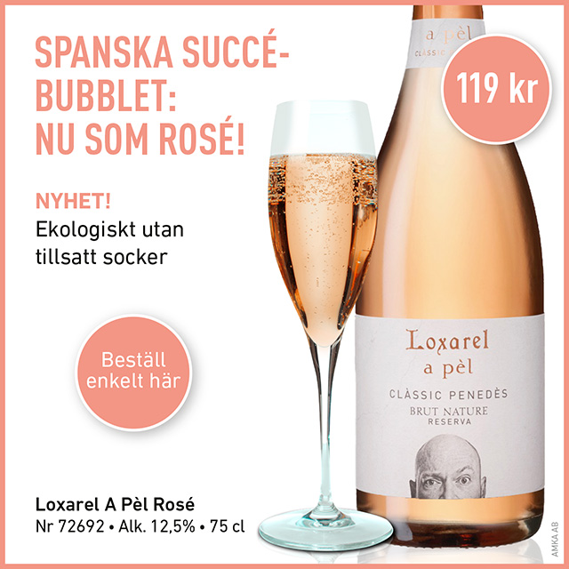 Nyhet! Rosé-bubbel från Spanien: Loxarel