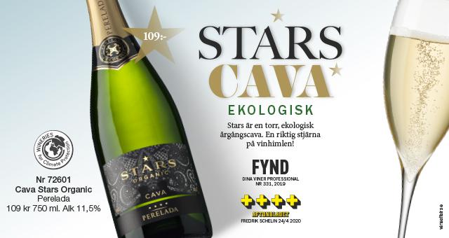 Cava Stars- torrt ekologiskt bubbel från Spanien