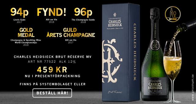 Champagne med högsta betyg: Charles Heidsieck