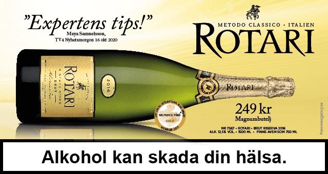 Rotari, italienskt fynd-bubbel i magnumflaska 249 kr