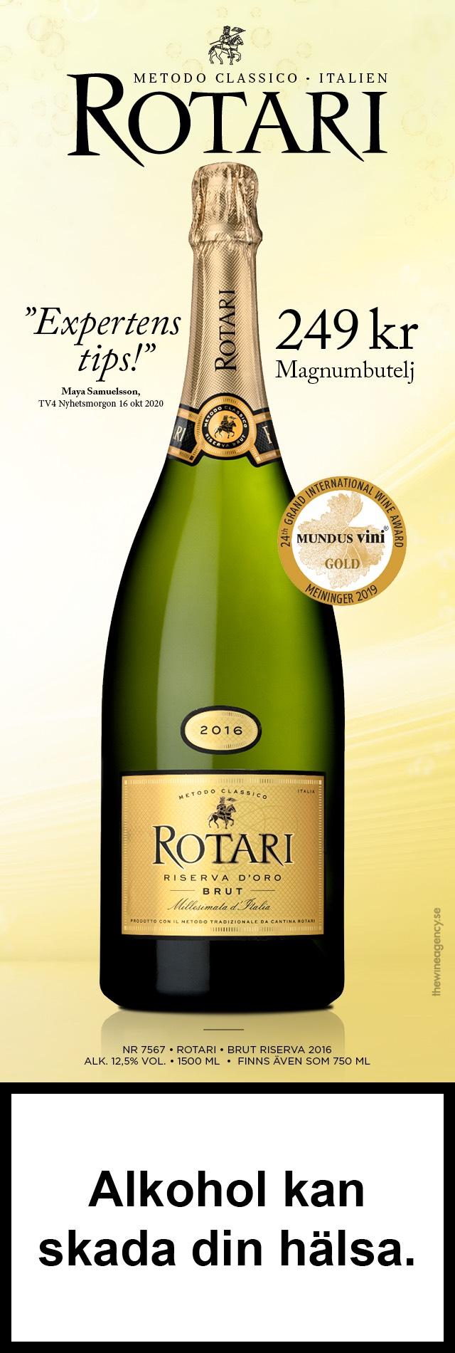 Italiens bästa mousserande: Rotari