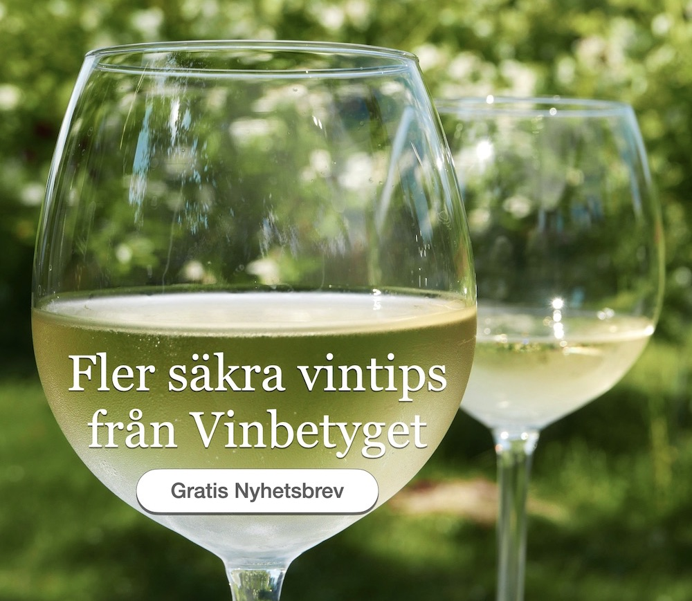 Nyhetsbrev från Vinbetyget med nya mat och vintips