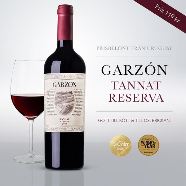 Vintips: Garzon Reserva Tannat – smakfullt rött vin 119 kr!