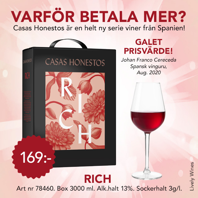 Rött vin bag in box: Fynd! Casas Honestos
