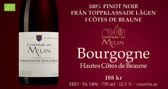 Rött vin Bourgogne: Chateau Melin