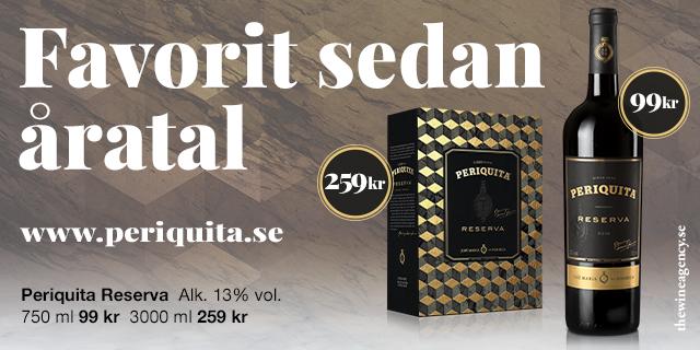 Rött mycket prisvärt vin: Periquita Reserva, både på flaska och bag in box