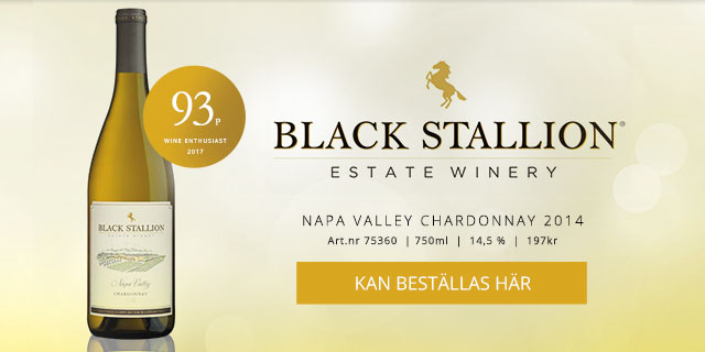 Vintips vitt vin Black Stallion Chardonnay