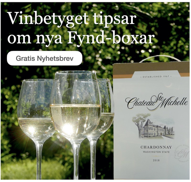 Vita boxviner: Fynd i Vinbetygets nyhetsbrev