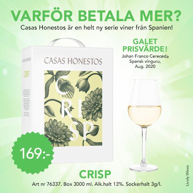 Vitt boxvin Spanien 169 kr