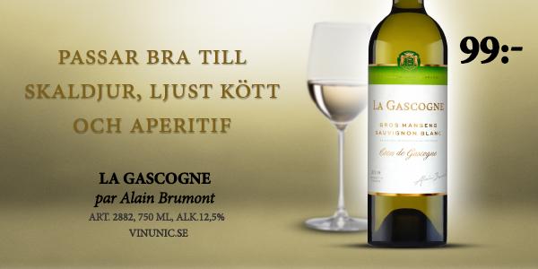 Vitt vin Frankrike- Fynd: La Gascogne 99 kr
