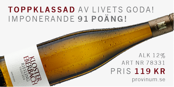 Vitt vin till asiatisk mat: Riesling från Kloster Eberbach!