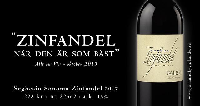 Zinfandel: Rekommenderas: Högsta betyg – på Vinbetygets topplista!