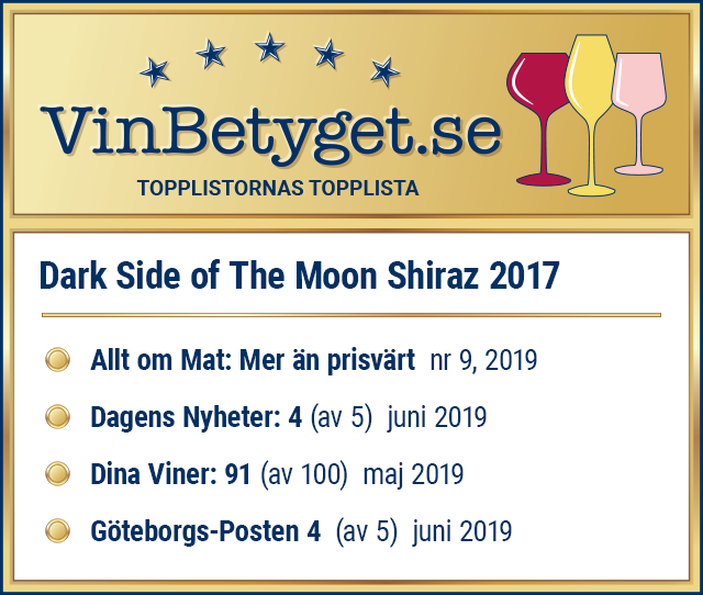 Vin betyg: Dark Side of The Moon Shiraz 2017 (art nr 2736)