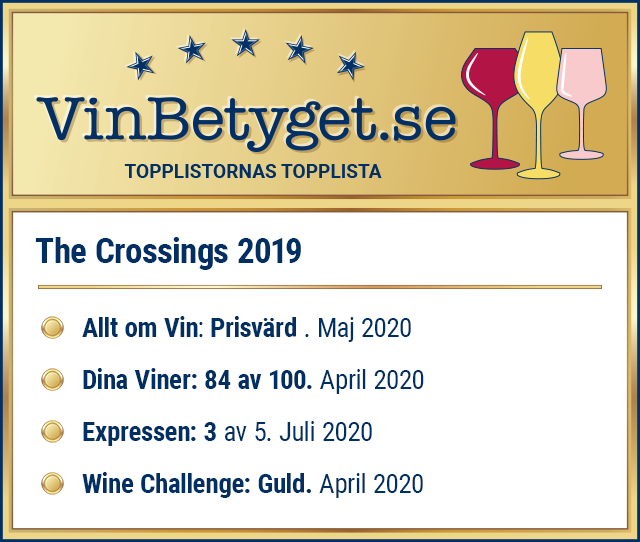 Vin betyg: The Crossings Sauvignon Blanc (art nr 6276)