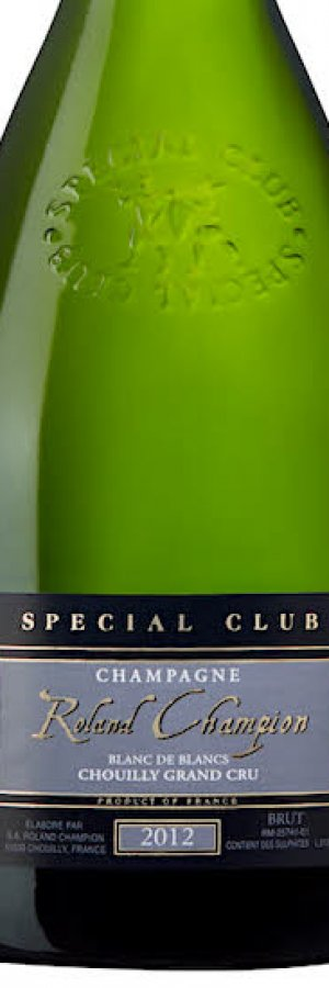 Champagne Tillfälligt sortiment:Roland Champion Special Club Grand Cru 2012 (nr 90479 på Systembolaget)